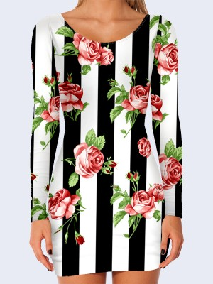 Платье Roses and stripes
