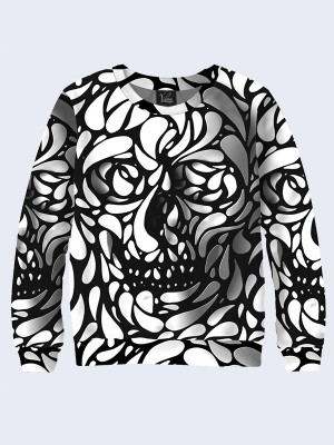 Свитшот Black and white skull