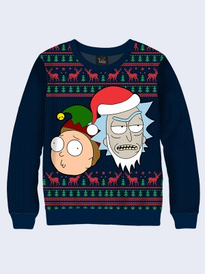 Свитшот Rick and Morty Christmas