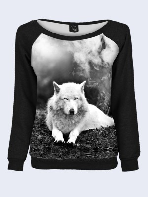 Свитшот Black and white wolf