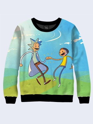 Свитшот Joyful Rick and Morty