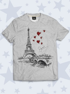 Футболка Paris hearts