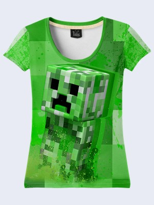 Футболка Creeper Minecraft