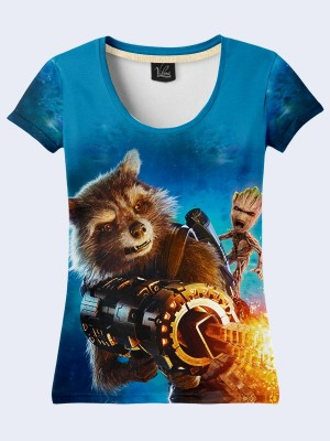 Футболка Rocket and Groot Guardians of the Galaxy